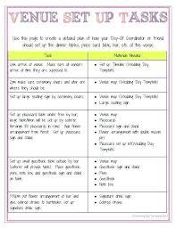 Checklist For Wedding Day Printable Wedding Day Timeline Template Venue Brochure