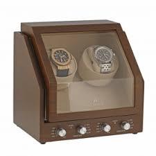 swisswatchstore uk luxury watches winders boxes straps premier range 2 double watch winder in natural walnut wood by aevitas