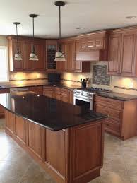 kitchen countertop ideas with oak cabinets best of black granite countertops in a classic wooden kitchen