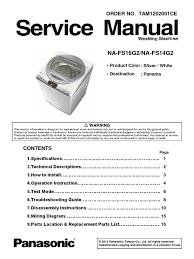 roper washing machine parts list best washing machines na fs16g2 14g2 panasonic washing machine service manual docshare tips