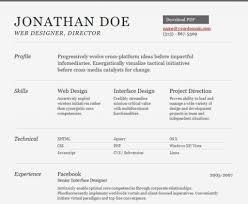 Online Job Resume Html Resume Templates Resume In Html Format Resume Format