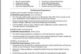sample cna resume examples  cna resume   no experience    sample cna resume examples