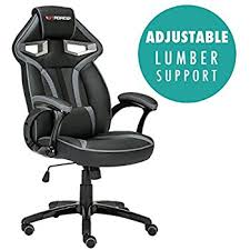 office bucket chair. GTFORCE ROADSTER 1 SPORT RACING CAR OFFICE CHAIR, LEATHER, ADJUSTABLE LUMBAR SUPPORT GAMING DESK Office Bucket Chair H