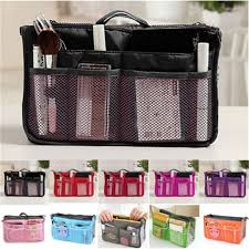 2017 women travel insert organizer handbag purse large liner lady makeup cosmetic bag travelling bag multifunction n658 in storage bags from home garden