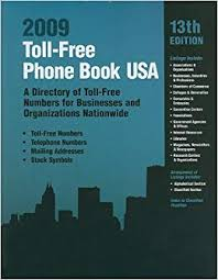 Toll Free Phone Book Usa A Directory Of Toll Free Telephone