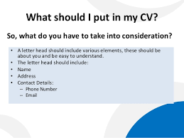 Put My Cv Online How To Write A Cover Letter