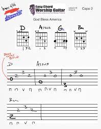 God Bless America Chord Chart God Bless America Lesson Id 070414 Easy Chord Worship