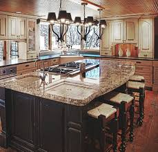 Kitchen Islands With Granite Countertops Kitchen Island Granite A Light Canvas Is Created For This Kitchen
