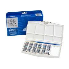 Cotman Water Colours Painting Plus 24 Half Pan Set Winsor
