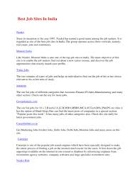 Amazing Top Job Search Engines In India Images Example Resume