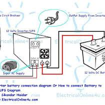 how to connect ups & inverter to battery and to ac supply Inverter House Wiring Diagram how to connect ups & inverter to battery and to ac supply nowadays in some countries load shedding is a big problem like pakist inverter house wiring diagram