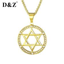 traditional bat mitzvah gifts dz new charm crystal star of necklace women gift jewelry in pendant