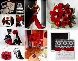 Red White Wedding Theme Pictures Red White And Black Wedding