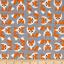 Organic Cotton Quilting Fabrics - Discount Designer Fabric ... & Cloud 9 Picture Pie Organic Fox Orange/Grey Adamdwight.com