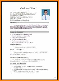9 Cv Format In Word Document Prome So Banko