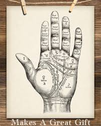 Vintage Palm Reading Chart 11x14 Unframed Art Print Great Gift For Fans Of The Occult Supernatural And Astrology Also Makes A Great Gift Under