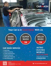Car Wash Flyer Template Free Hand Car Wash Flyer Template In Adobe Photoshop Illustrator 24