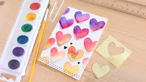 Easy Diy Easy Diy Valentines Day Card Made With Minimal Supplies Youtube
