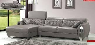 grey leather sectional couch modern light grey leather sectional sofa