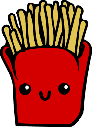 french fries clip art. Kawaii Fries Colour And French Clip Art