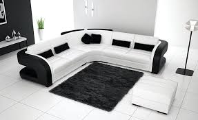 black and white sofa remode bed grey rug couch room