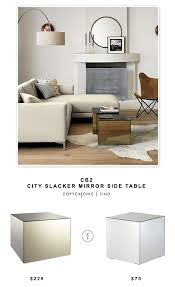 cb2 city slacker mirror side table copycatchic lacker look for