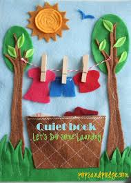 laundry quiet book page