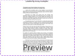 leadership essay examples homework service leadership essay examples leadership essay my leadership skills from the story leadership by