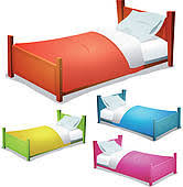 beds clipart.  Beds Sleeping In Bed Cartoon Bed Set And Beds Clipart