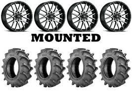 Four 4 Bkt Tr 171 Atv Tires Set 2 Front 35x9 5 18 2 Rear