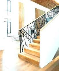 metal stair handrails interior railing ideas modern wood contemporary railings canada