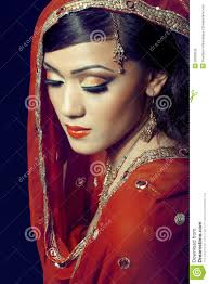 beautiful indian with bridal makeup