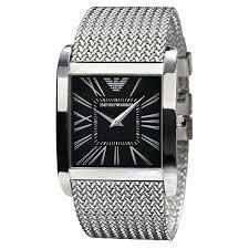 armani ar2012 mens black dial silver bracelet classic watch emporio armani ar2012 mens black dial silver bracelet classic watch