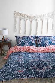 Plum & Bow Mirrored Love Birds Duvet Cover - Urban Outfitters: with light blue  walls and red velvet curtains!