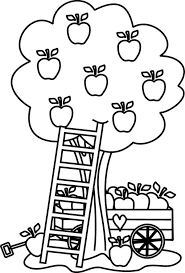 Small Picture Carriage Under an Apple Tree Colouring Page Happy Colouring