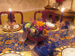 Blue And Gold Table Setting Table Setting For A Blue Hen Red Door Table Decor