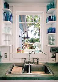 sink window shelving mason jar