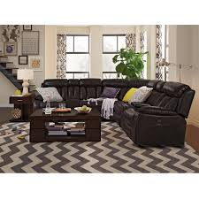 Walnut Living Room Furniture Diablo 7 Piece Power Reclining Sectional With Armless Power Chair