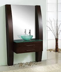 Bed & Bath Surprising Bathroom Vanities Lowes With Glass Vessel