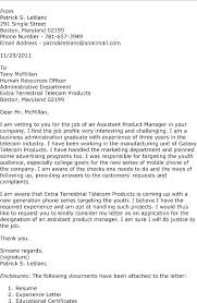 Product Manager Cover Letter Sample Cover Letter Application Cover ...