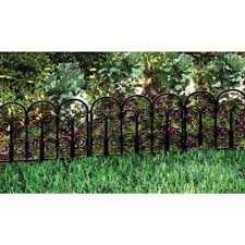 decorative garden fences. amazon.com : origin point jasmine classic decorative steel landscape border fence section garden edging \u0026 outdoor fences