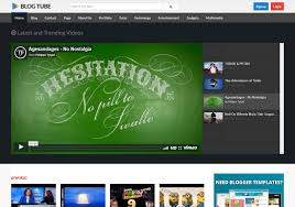 Blogtube Professional Video Blogger Template 2014 Free Download