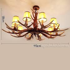 classic elk antler chandelier 10 candelabra ceiling lights rustic lighting fixtures home decor with lamp shades