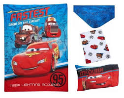 disney cars team lightening 4 piece toddler bedding set
