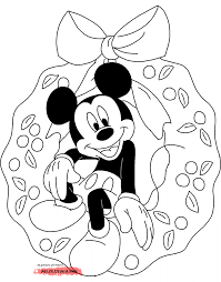 Christmas Mickey Mouse Coloring Pages C Soidergi