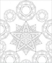 Geometric Coloring Pages Free Geometric Design Coloring Pages