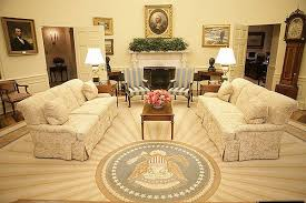 george bush oval office. President George W Bush Sunburst Oval Office Rug