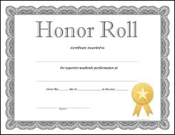 Certificate Of Honor Template 28 Beautiful Honor Roll Certificate Templates Free