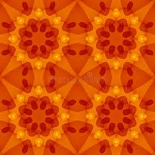 Seamless Texture With A Warm Orange Red Floral Pattern Stock