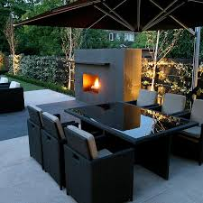 Small Picture Contemporary Garden Love this outdoor fireplace Would like the
